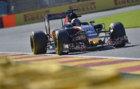 Verstappen, durante los libres en el circuito de Spa