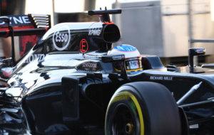 Alonso, en el circuito de Spa