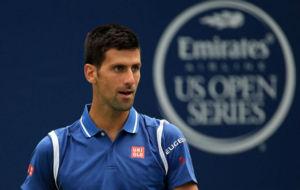 Novak Djokovic en la final individual ante el japon�s Kei Nishikori...