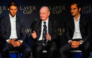 Nadal, junto a Laver y Federer