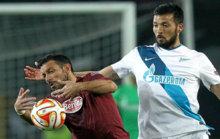 Garay, en un partido de la Liga rusa.