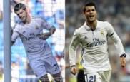 Morata celebra su �ltimo gol antes de la cesi�n y el de esta noche