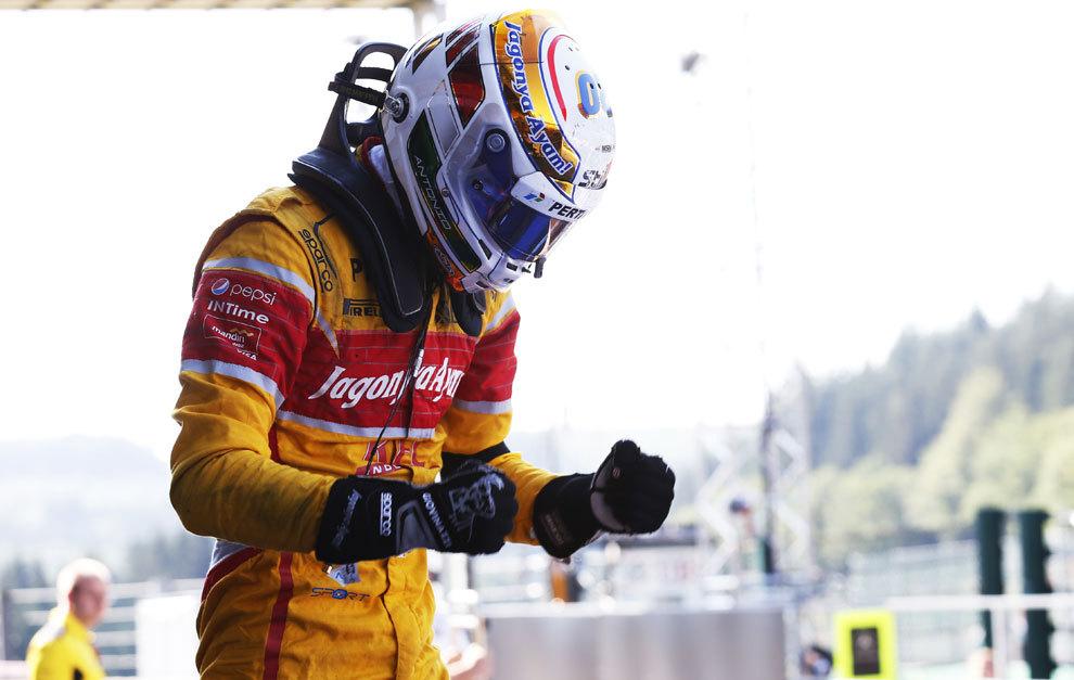Giovinazzi, celebra la victoria en Spa
