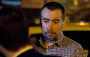 Kevin Mallon, tras su puesta en libertad.