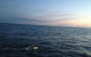 Un nadador cruzando el Canal de a Mancha en una imagen de archivo.