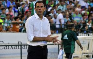 Gustavo Poyet, en el partido ante el Deportivo.