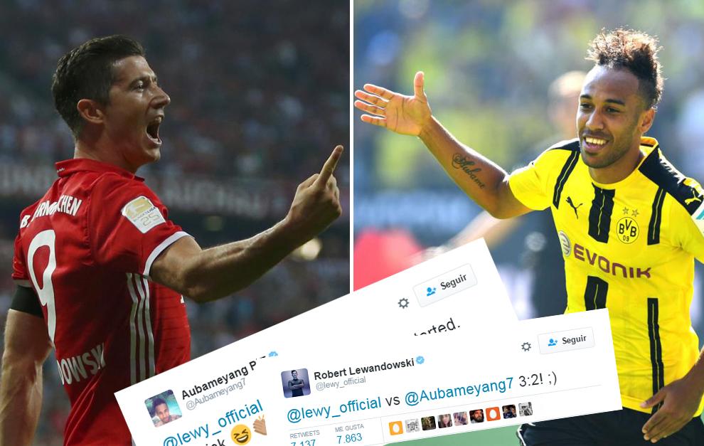 Aubameyang, Lewandowski y sus tweets