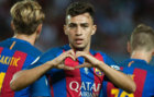 Munir celebra el gol que marc� contra el Sevilla en la Supercopa de...