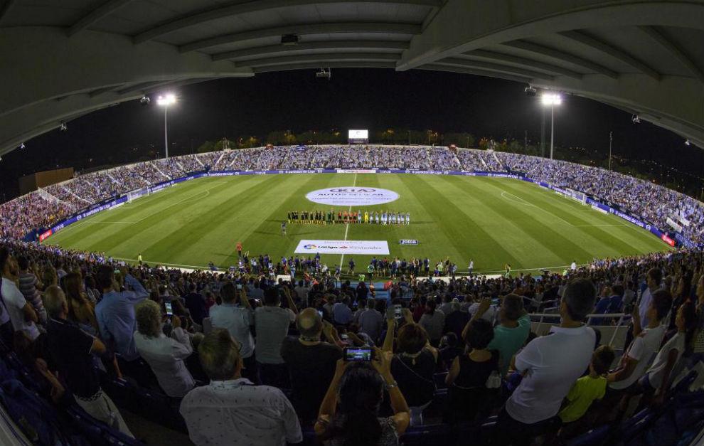 Butarque, hasta la bandera en el Leganés-Atlético.