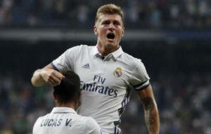 Toni Kroos celebra su gol al Celta