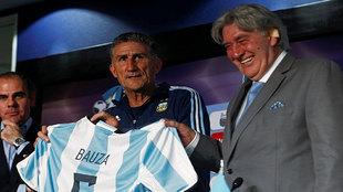 Edgardo Bauza, el día de su presentación como seleccionador.