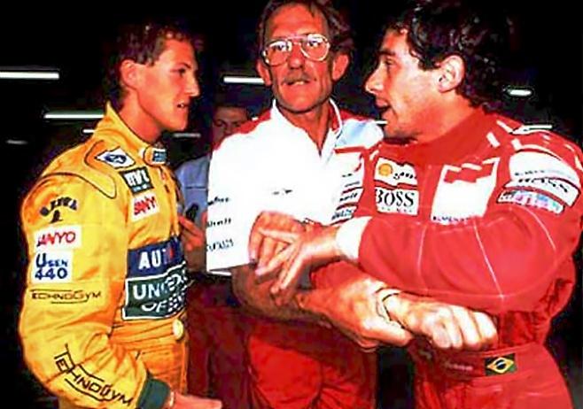 Hockenheim 92: Senna recrimina Schumacher minutos después de cerrarle...