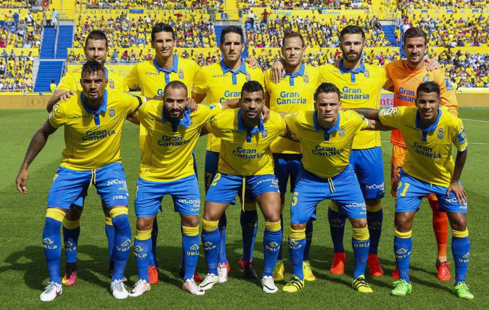 Alineación de la UD Las Palmas ante el Granada