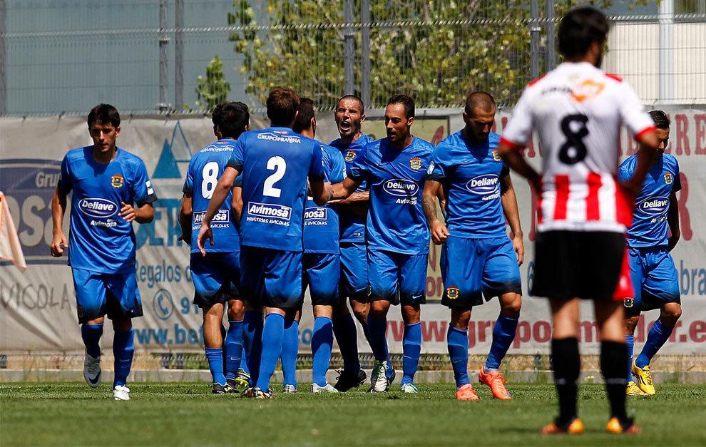 Diego Cervero (33) celebra el tanto del domingo ante la UD Logroñés
