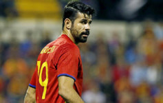 Diego Costa, en un amistoso que Espa�a disput� frente a Inglaterra.