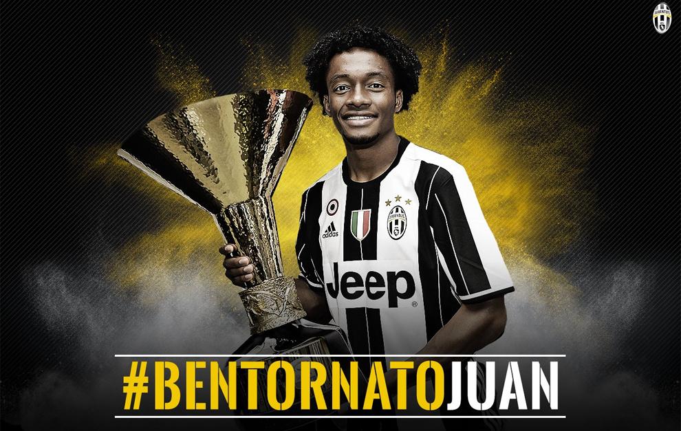 Cuadrado con la camiseta de la Juventus