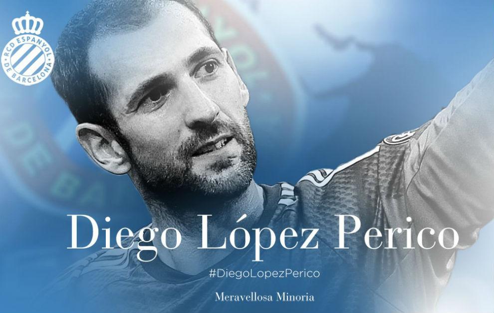 Imagen de Espanyol en la que anuncia el fichaje de Diego López