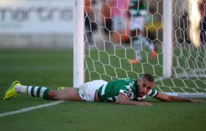 Slimani, con el Sporting.