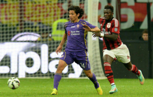 Mat�as Fern�ndez ante el Milan