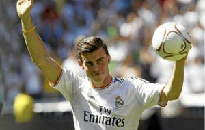 Gareth Bale el d�a de su presentaci�n en el Santiago Bernab�u