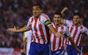 Da Silva celebra su gol ante Chile