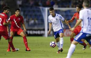 Cristo Gonz�lez, durante el partido del Tenerife ante el Sevilla...