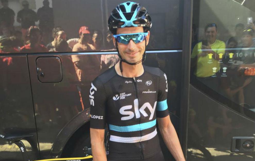 David López, uno de los escuderos de Froome en la Vuelta.