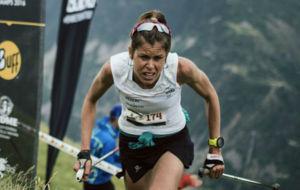Laura Orgu�, durante el KV del Mundial de trail.