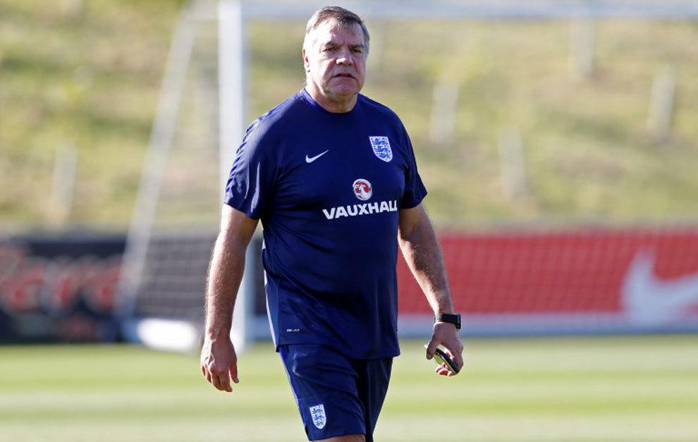 England manager Sam Allardyce during training.