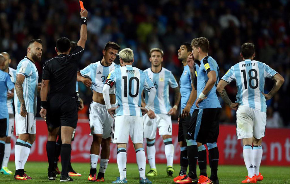 Dybala Reassured By Messi After Calamitous Red Card Marca English