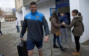 Rub�n Gonz�lez, en su etapa en el Real Zaragoza