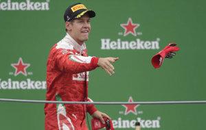 Vettel lanza un guante a los seguidores de Ferrari.