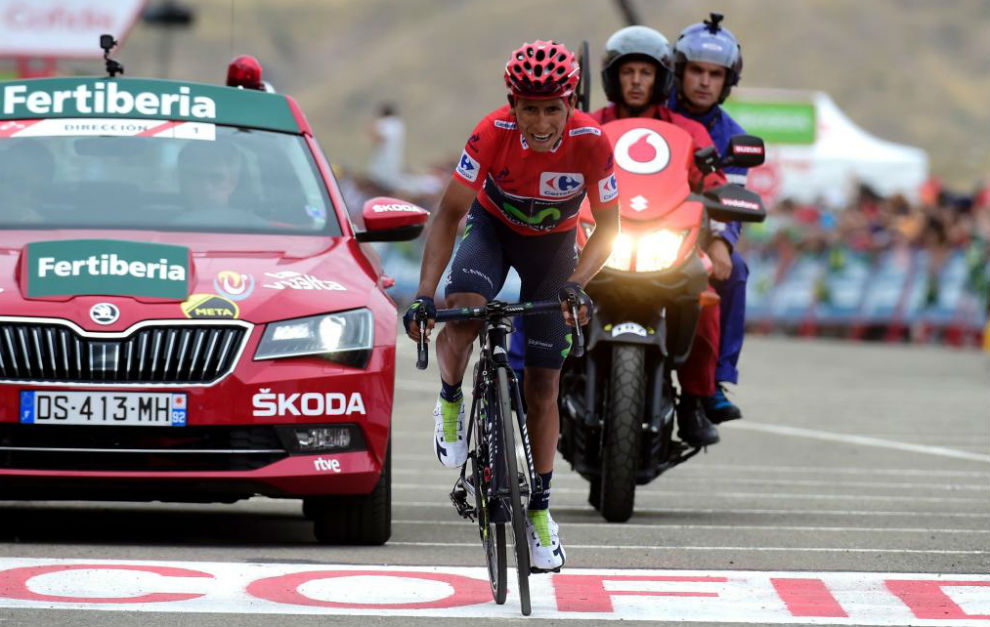 Nairo Quintana cruza la meta