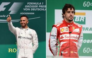 Hamilton en Alemania 2016 y Alonso en Brasil 2013