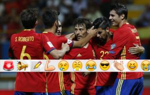 silva celebra su segundo gol