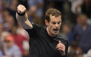 Murray celebra su victoria ante Dimitrov.