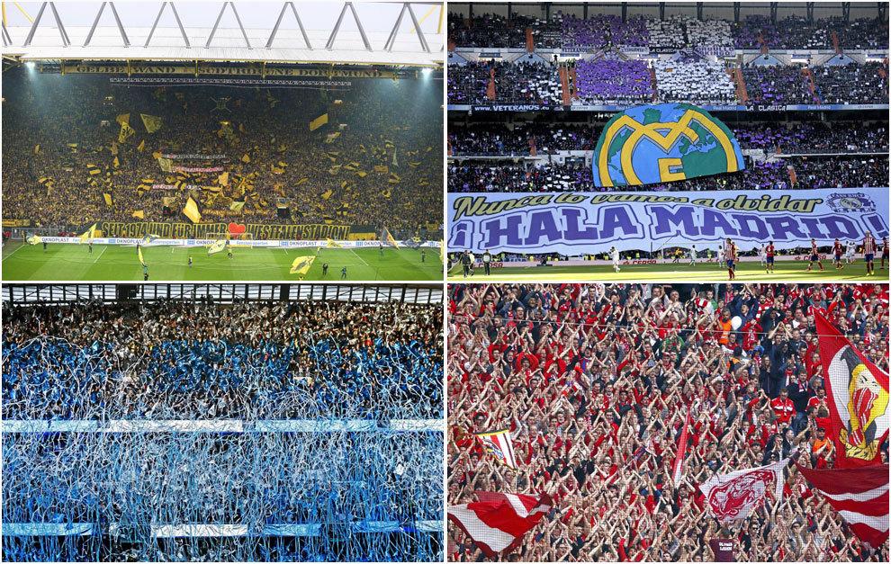 Los 20 estadios con más espectadores de Europa