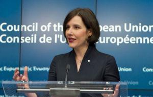 Dana Reizniece-Ozola, ministra de Finanzas de Letonia.