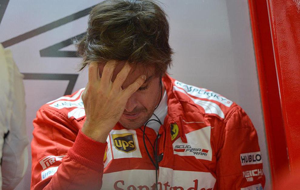 Alonso, durante el Gran Premio de Inglaterra de 2014.