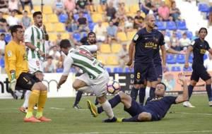 Rodri, durante el partido liguero ante el UCAM en Murcia