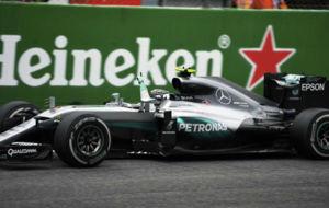 Rosberg, entrando ganador en Monza