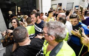 Bale, en el acto de esta ma�ana en Madrid