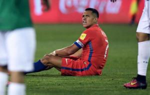 Alexis ene l partido ante Bolivia