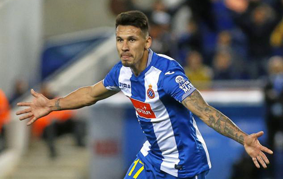 Hernán Pérez celebrando un gol la temporada pasada.