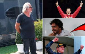 Briatore, Schumacher, Alonso y Verstappen
