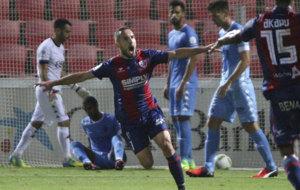 Ferreiro celebra el �nico gol del partido.