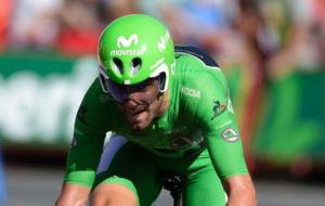 Valverde, durante la contrarreloj.