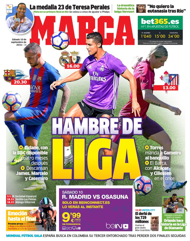 Las portadas: los regresos de Cristiano y Neymar, Cillessen... | Marca ...