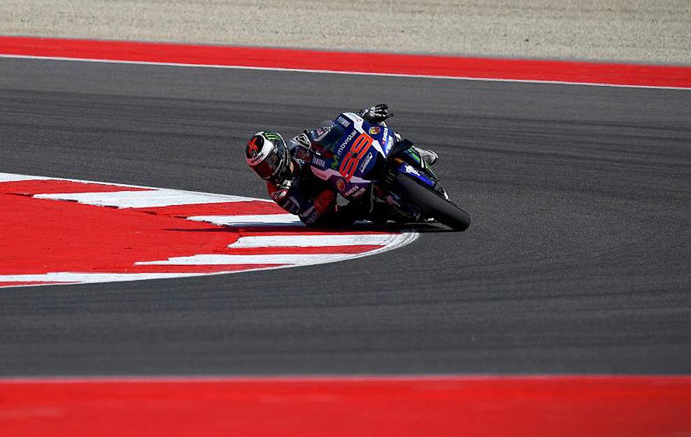 Lorenzo, durante los entrenamientos libres del GP de San Marino.