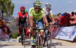 Alberto Contador en su participación en la Vuelta